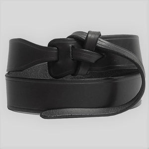 #907 Leather Knot Belt Black