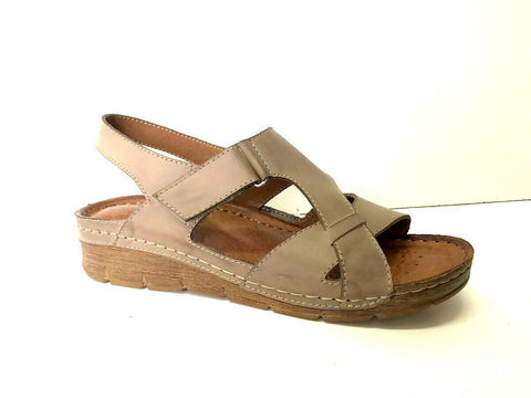 908 Low Wedge Sandal - Cappuccino
