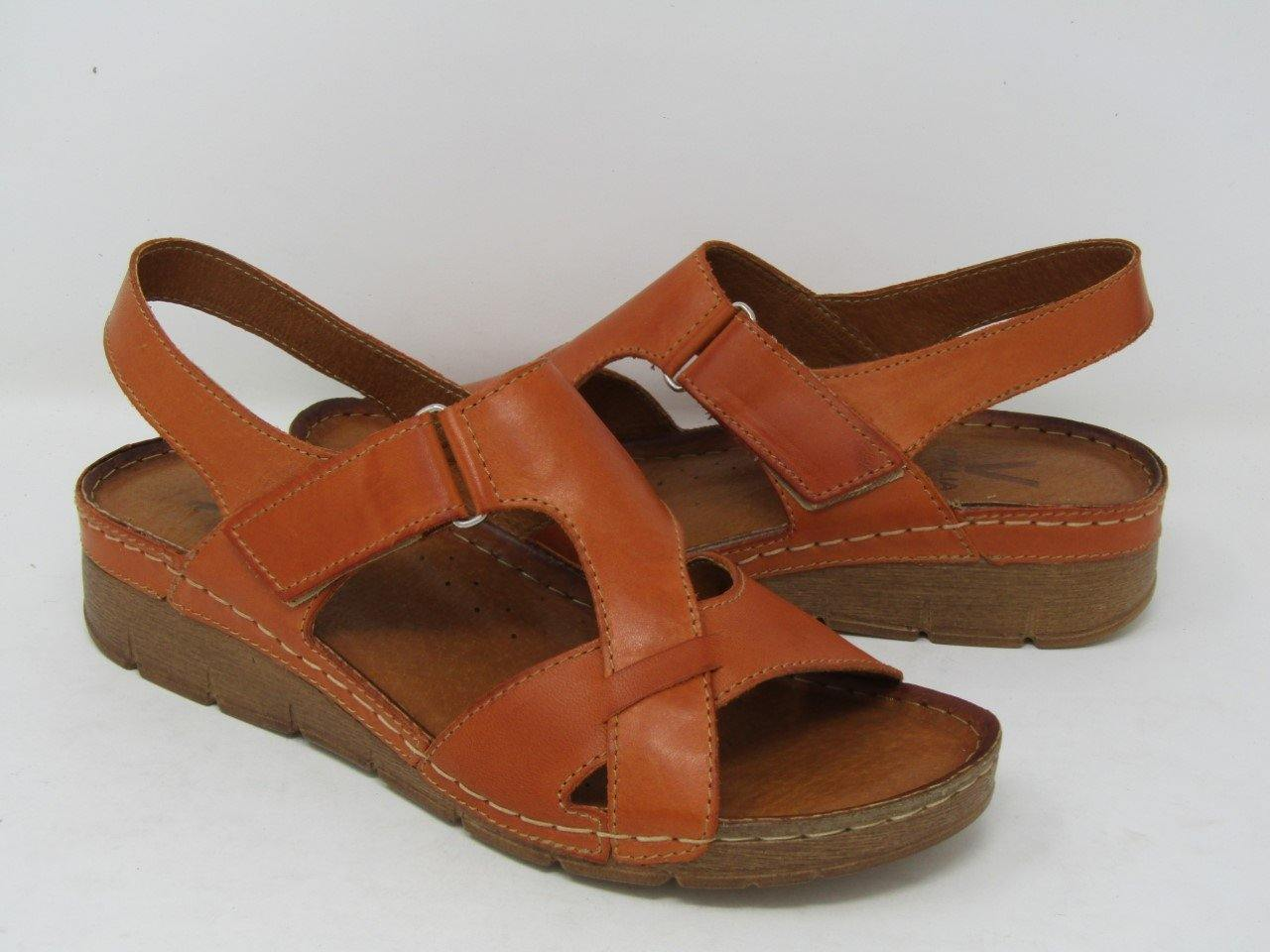 Low Wedge Sandal (908) - Orange