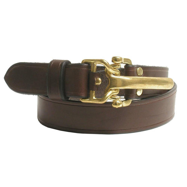 #915 Casual Leather Belt in Dark Brown
