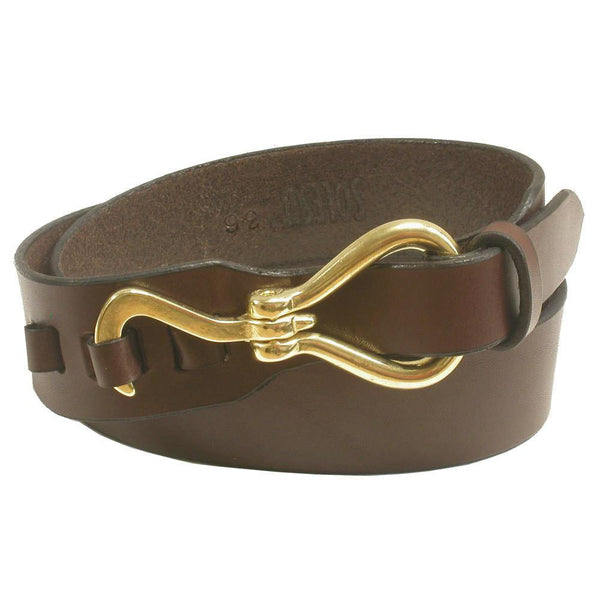 #A52 Leather Belt | Chocolate w/Brass