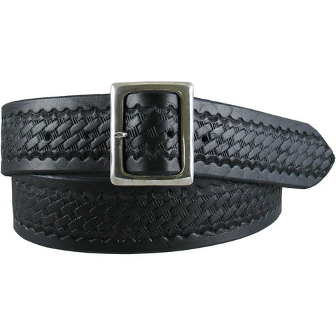 Basket Weave Uniform Belt Black