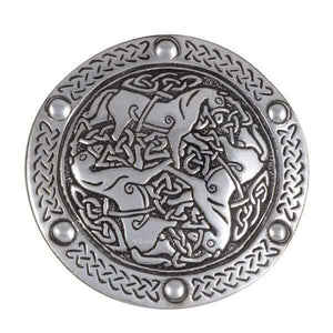 Inverurie Horses Pewter Belt Buckle