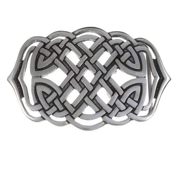 "Pewter Belt Buckle ""Mermaid's Purse"""