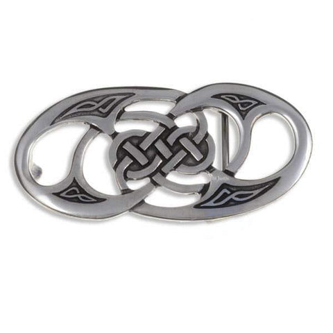 Celtic Twisted Loop Pewter Belt Buckle