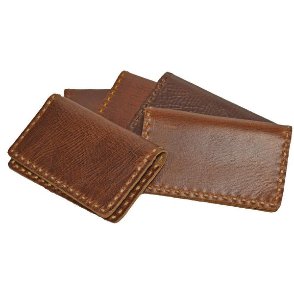 Handsewn Two-Fold Brown Leather