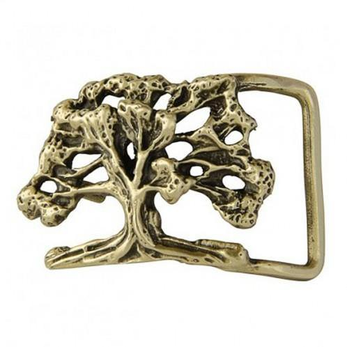 Baobab Tree Belt Buckle - Brass