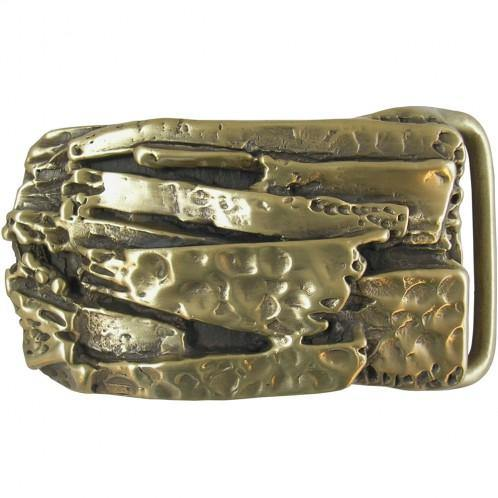 Brass Limestone Belt Buckle