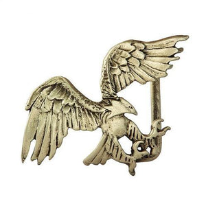 Landing Eagle Belt Buckle - Brass
