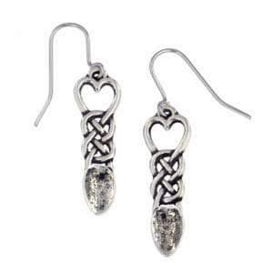 Love Spoon Pewter Earrings