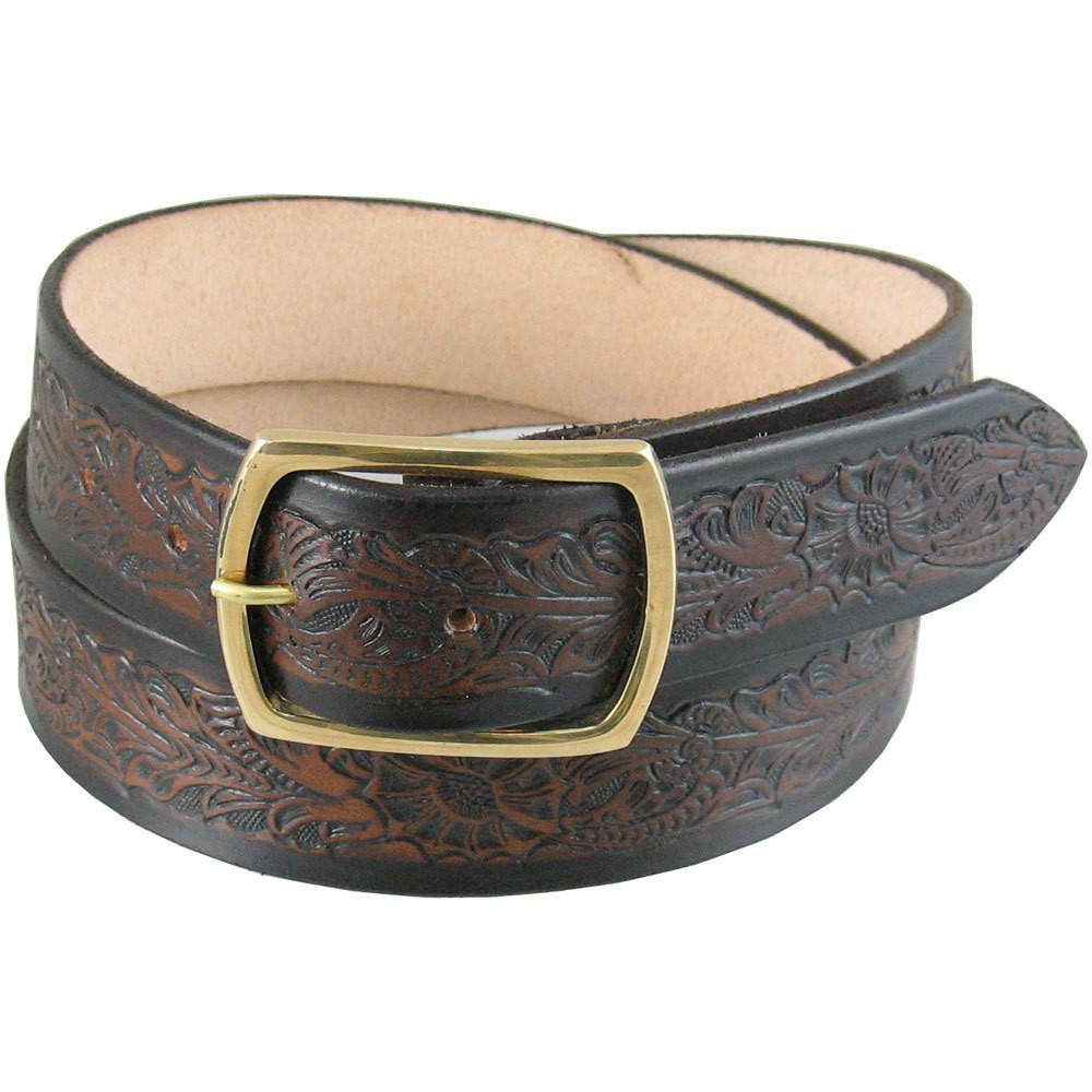 "1 1/2/"" Wide Tooled Belt 
