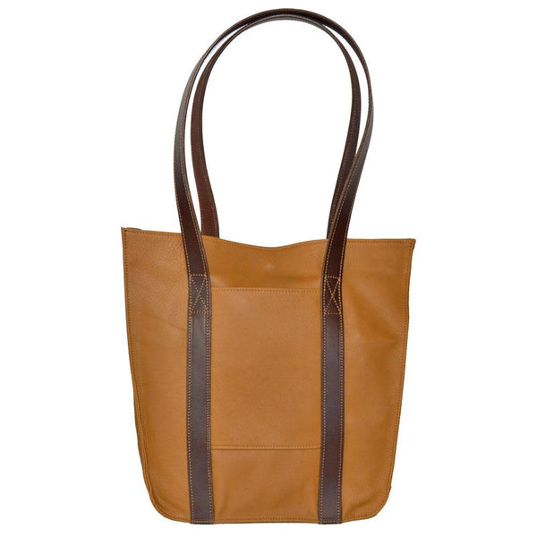 Tall Strap Tote Medium Tan