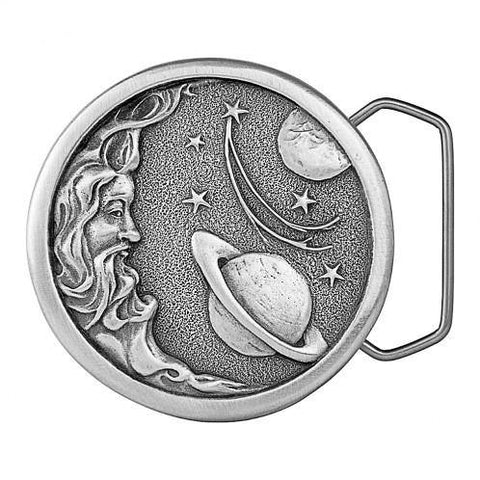 Man in the Moon Belt Buckle - Pewter