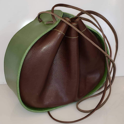 Ashley Drawstring Green/Chocolate