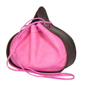 Ashley Drawstring Bag Burgundy/Pink