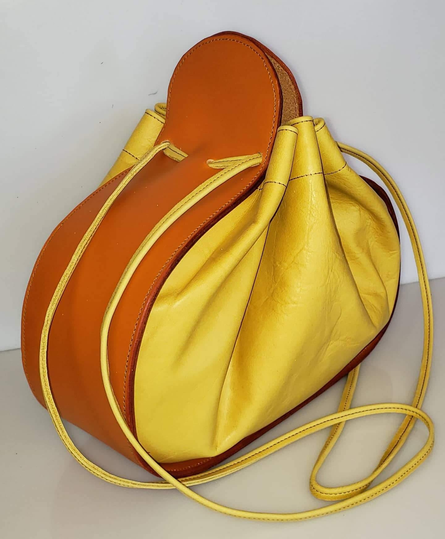 Ashley Drawstring Bag Orange/Yello