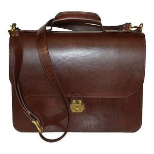 Briefcase - Brown - Front View