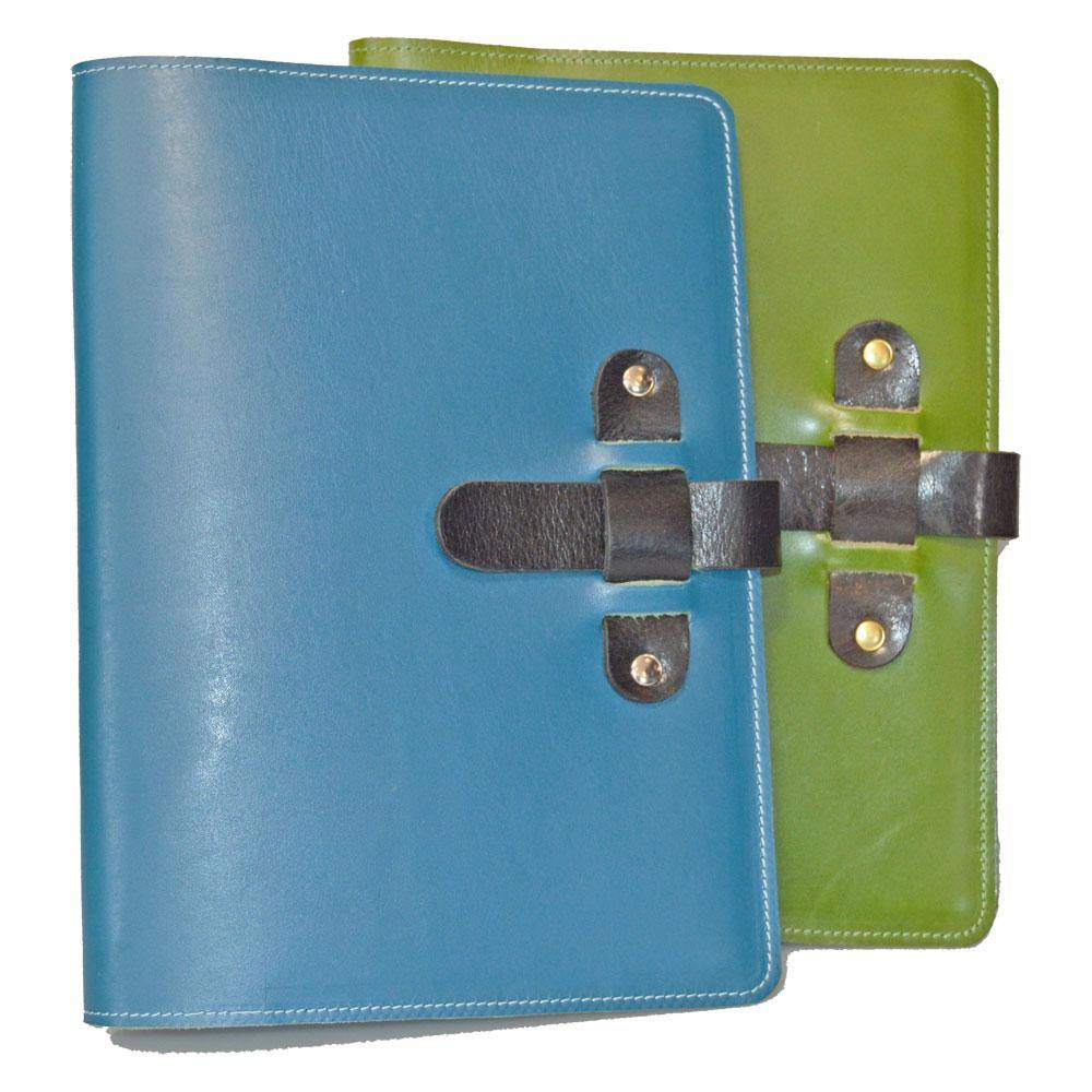 Large Leather Journal - One Blue and One Green