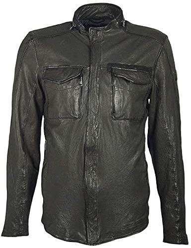 Men's Leather Jacket - Black