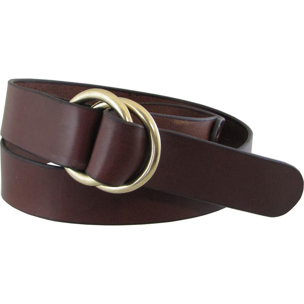 8906 Ring Belt in Mahogany Leather