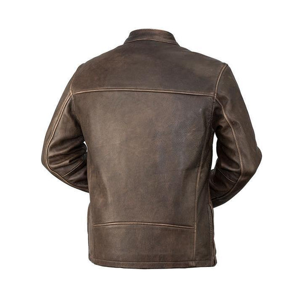 Men's Center Zip Tab Collar Jacket - BACK VIEW