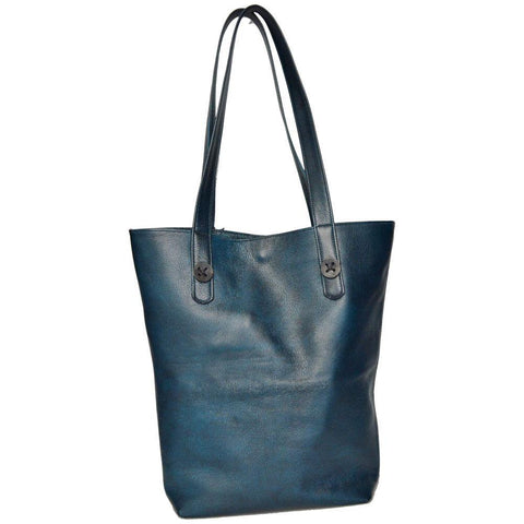 Mary Button Tote - Dark Teal