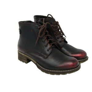 Piper Boot Black/Red Metallic