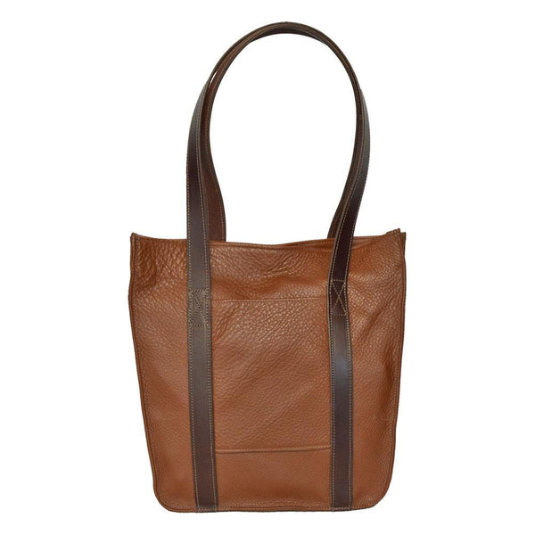 Tall Strap Tote - Brown Leather
