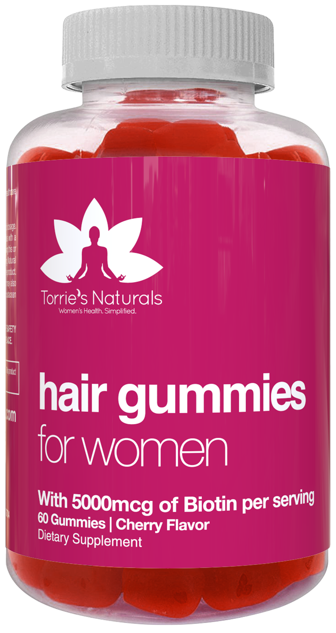Vegan Hair Gummy Vitamins with 5000 mcg of Biotin