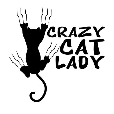 Crazy cat lady vinyl sticker kitty cats alley