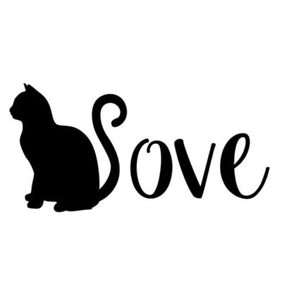 I love cats car sticker kitty cats alley