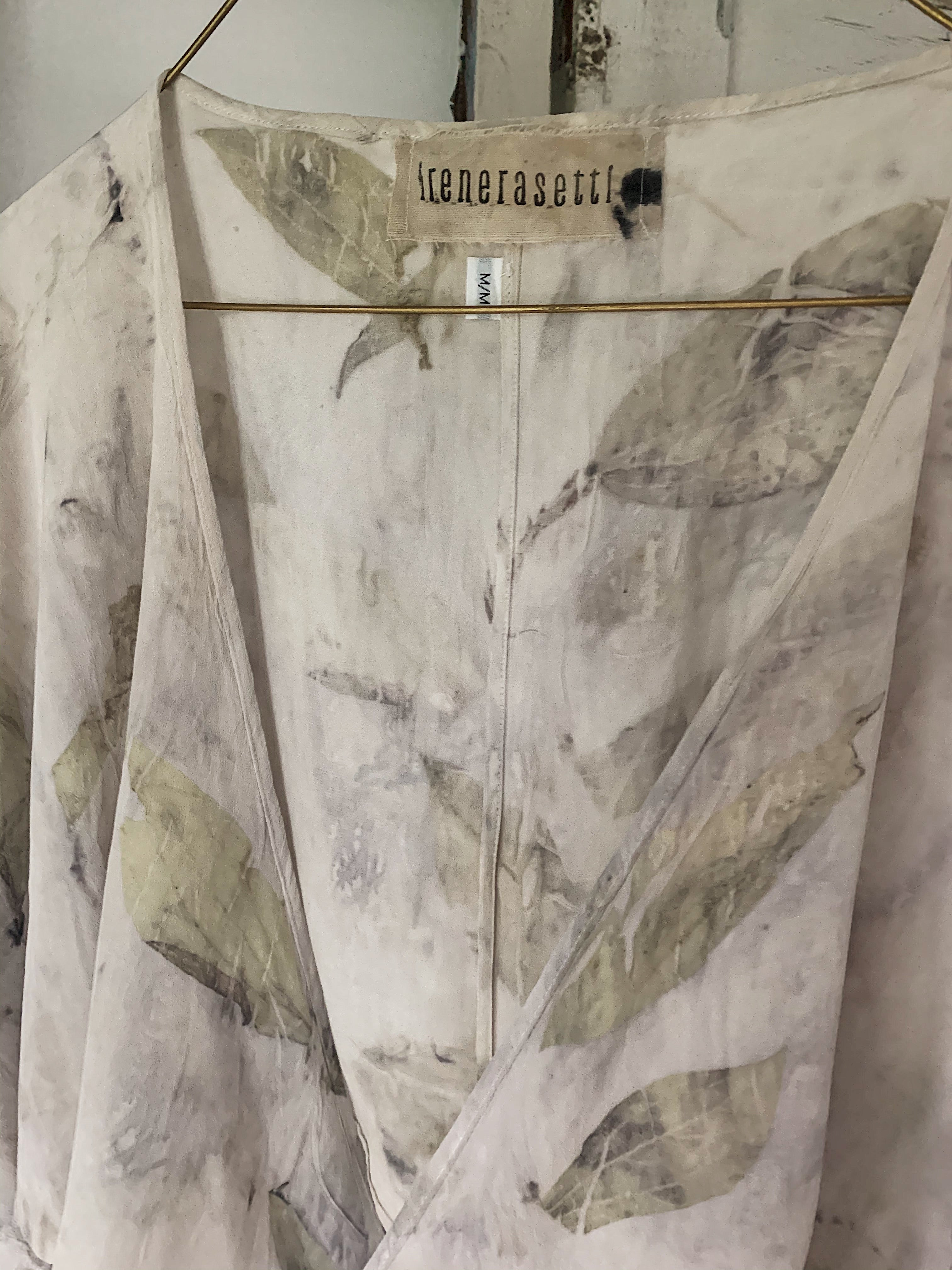 Cleo Silk Wrap Top - Medium 1