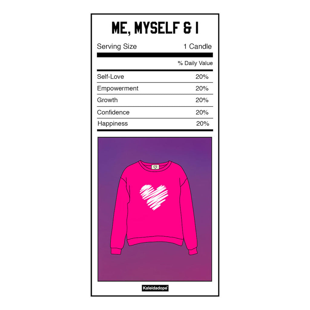 Me, Myself & I Candle (Hot Pink)