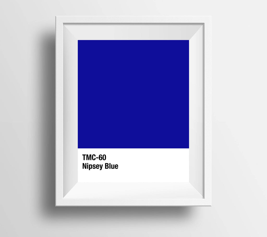 Nipsey Blue Swatch Print
