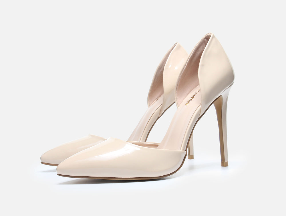 Apricot Patent Leather Pump