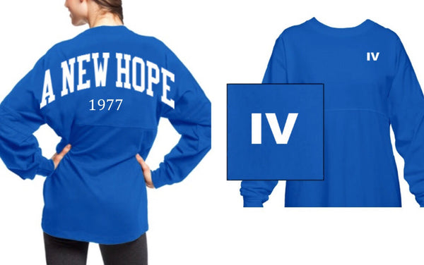 Star Wars A New Hope spirit jersey blue