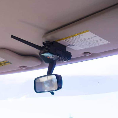 Portable CB / HAM Radio Sun Visor Holder Mount - Universal Fit - JeepUniq