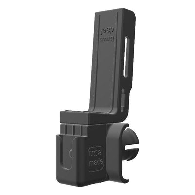 Cobra 75 WX CB Mic + Baofeng UV-5R Radio Holder for Jeep JK 07-10 Grab Bar - Image 3