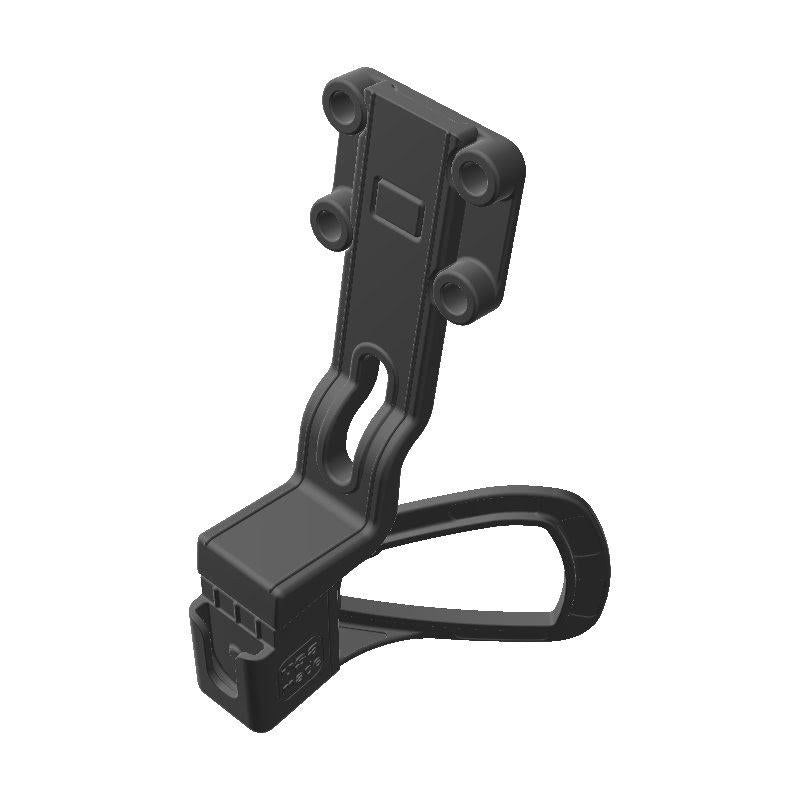 Cobra 75 WX CB Mic + Garmin InReach Explorer SATCOM Holder for Jeep JK 11-18 Grab Bar - Image 1