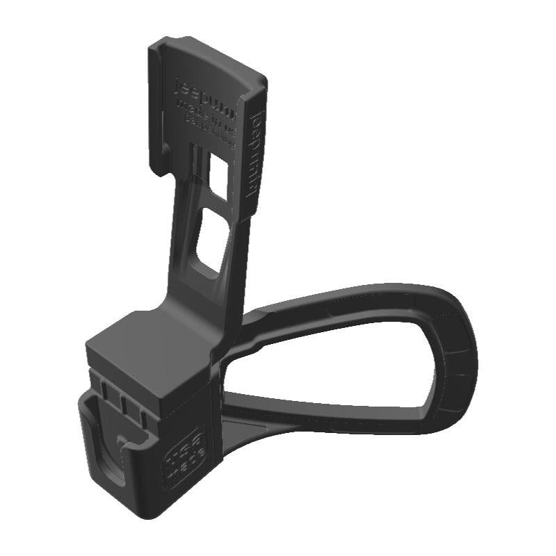 Wouxun KG-UV950P HAM Mic + Garmin Mini InReach SATCOM Holder for Jeep JK 11-18 Grab Bar - Image 1
