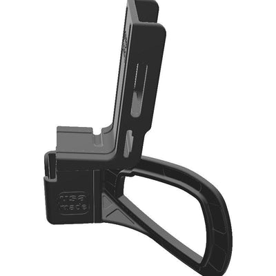 Galaxy DX 949 CB Mic + Icom IC-T70A Radio Holder for Jeep JK 11-18 Grab Bar - Image 2