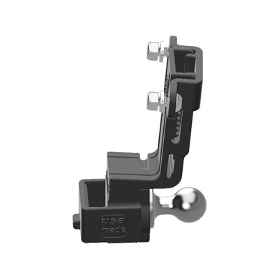 Baofeng BF-S112 HAM Mic + Delorme inReach Device Holder with 20mm 67 Designs Ball - Image 2