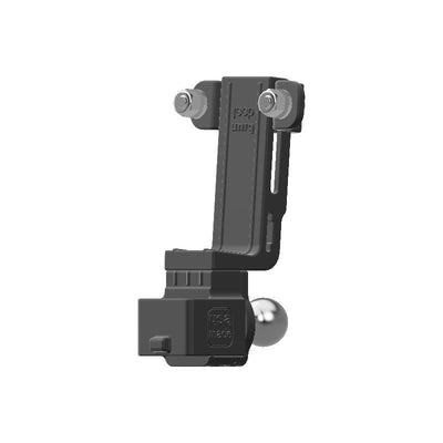 Baofeng BF-S112 HAM Mic + Delorme inReach Device Holder with 20mm 67 Designs Ball - Image 3
