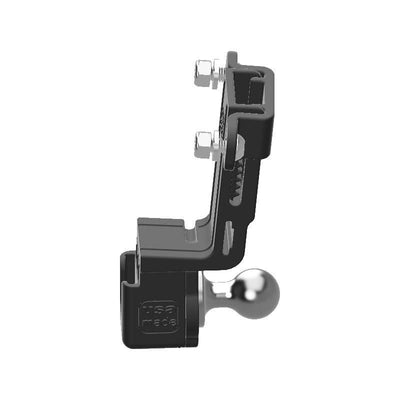 Yaesu FTM-350AR HAM Mic + Delorme inReach Device Holder with 20mm 67 Designs Ball - Image 2