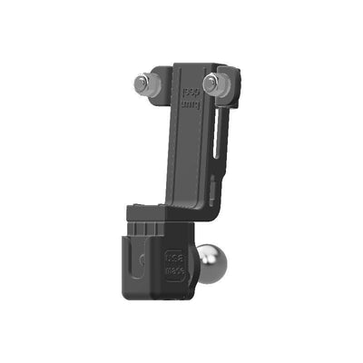 Yaesu FT-8800R HAM Mic + Delorme inReach Device Holder with 20mm 67 Designs Ball - Image 3