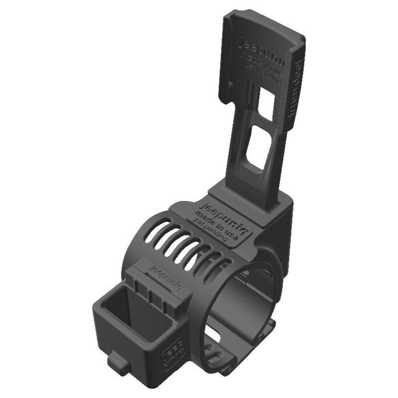 Midland 75-822 CB Mic + Garmin Mini InReach SATCOM Holder Clip-on for Jeep JL Grab Bar - Image 1
