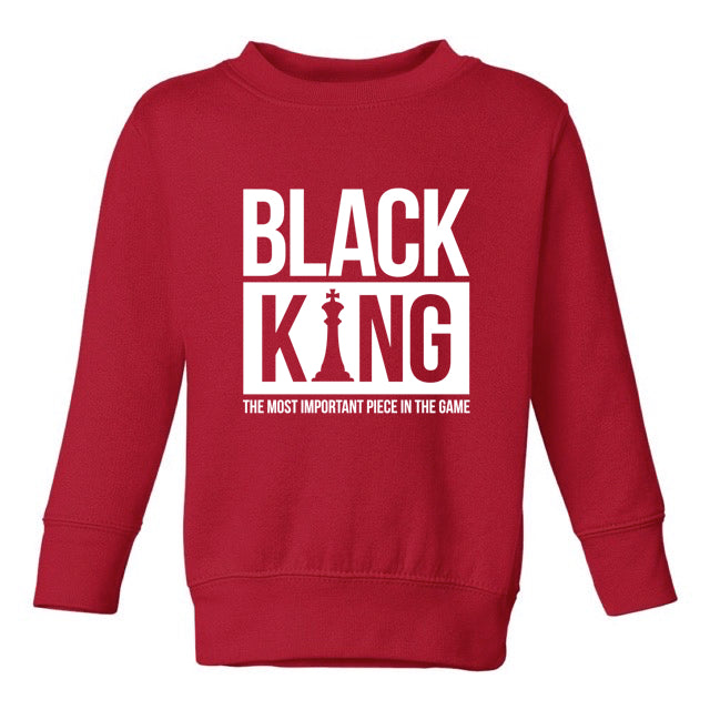 BLACK KING SWEATSHIRT – TODDLERS