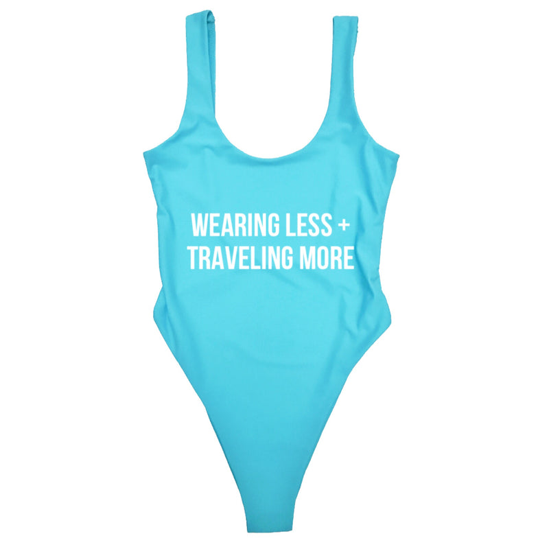 WEARING LESS + TRAVELING MORE