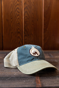Bushy Skunk Embroidered Ovs Canyon Dyed Washed Twill Hat