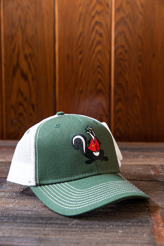 Mr. Skunk Embroidered Ovs Structured Mesh Hat